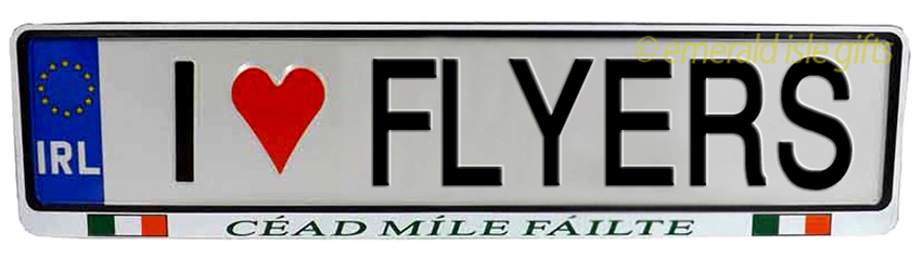 I Love FLYERS Irish Driving Plate