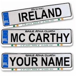 Family Name Irish Driving Plate - Abbot to Ardern
