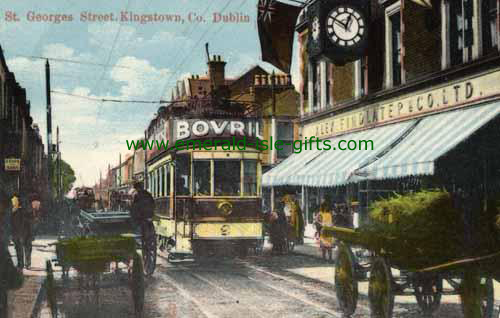 Dun Laoghaire - Dublin - Trams on Georges St
