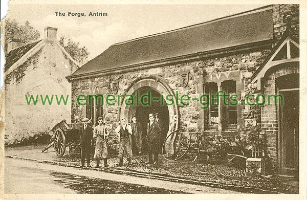 Antrim - Antrim Town - The Forge (old b/w Irish photo)
