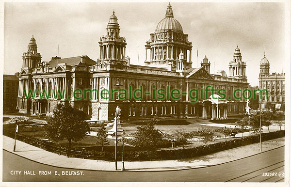 Antrim - Belfast - City Hall from E. Belfast