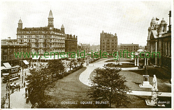 Antrim - Belfast - View Donegall Square