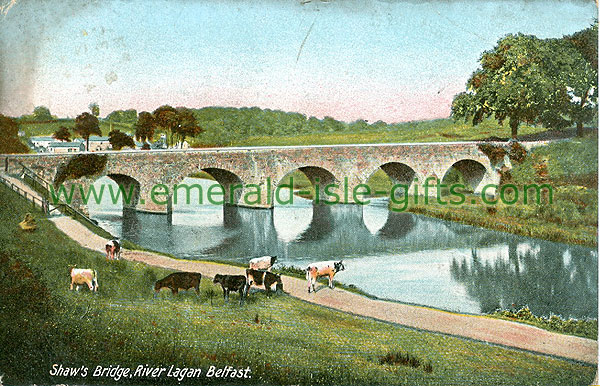 Antrim - Belfast - Shaws Bridge, River Lagan