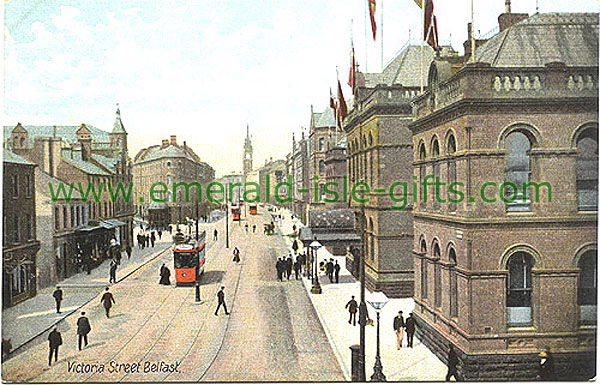 Belfast - Victoria Street in colour