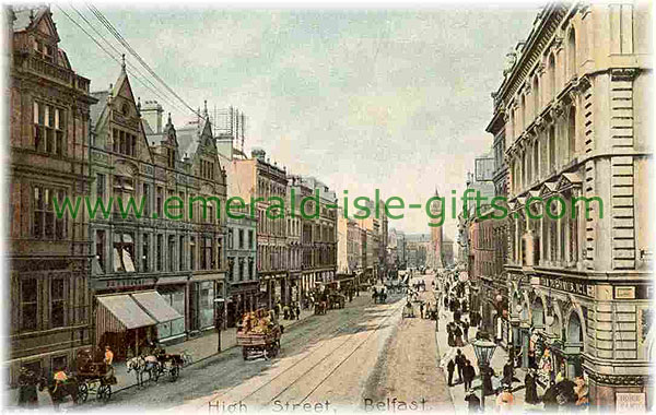Belfast - old photo of High Street