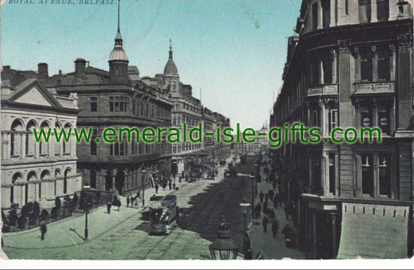 Belfast - old photo of Royal Avenue