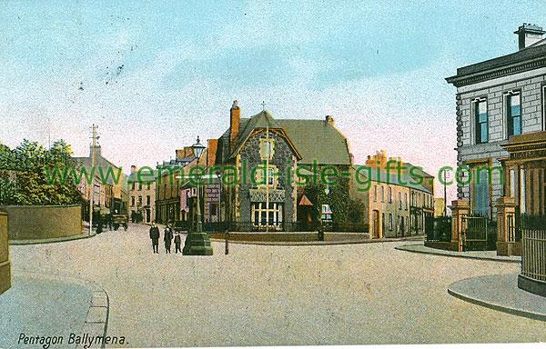 Antrim - Ballymena - Pentagon (old colour Irish photo)