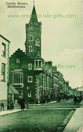 Antrim - Ballymena - Castle St (old b/w Irish photo)