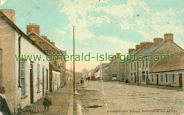 Antrim - Broughshane - Village Scene (old colour Irish photo)