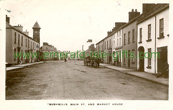 Antrim - Bushmills - Main St (old b/w Irish photo)