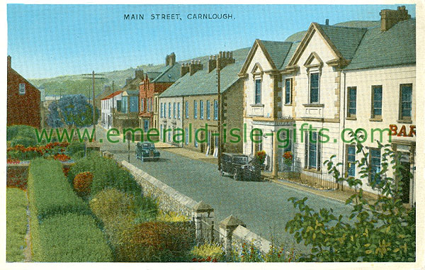 Antrim - Carnlough - Main St (old colour Irish photo)