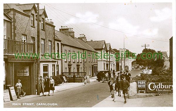 Antrim - Carnlough - Main St (old b/w Irish photo)