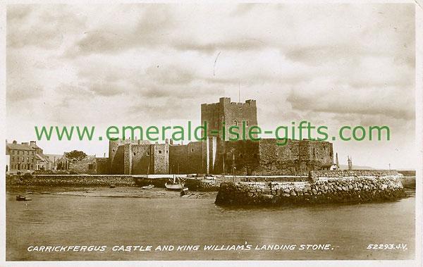 Antrim - Carrickfergus - Carrickfergus Castle (old b/w Irish photo)
