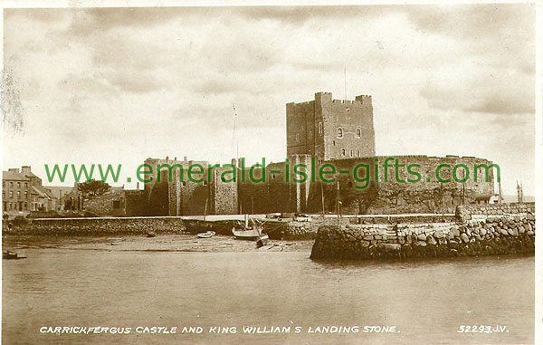 Antrim - Carrickfergus - Carrickfergus Castle and King William