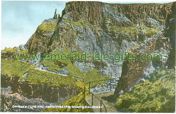 Antrim - Giants Causeway - Chimney Tops & Amphitheatre