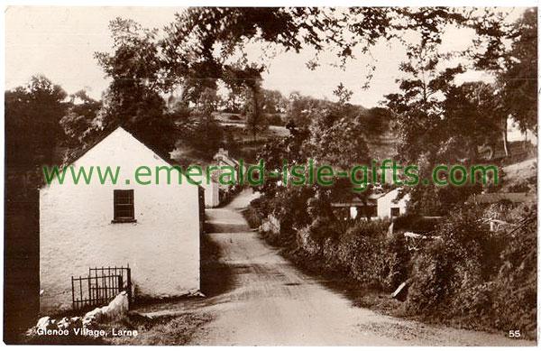 Antrim - Glenoe Village, near Larne, old