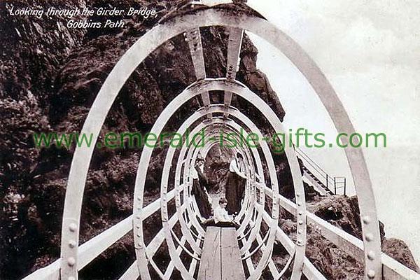 Antrim - Gobbins Path b/w photo