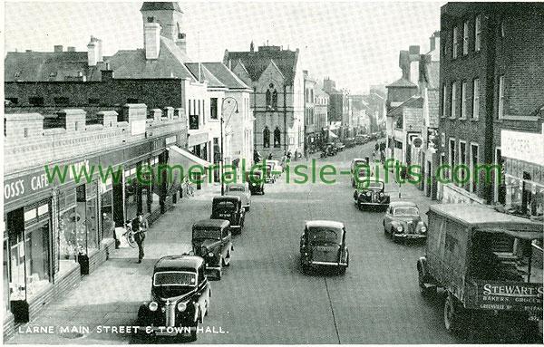 Antrim - Larne - Main St & Town Hall