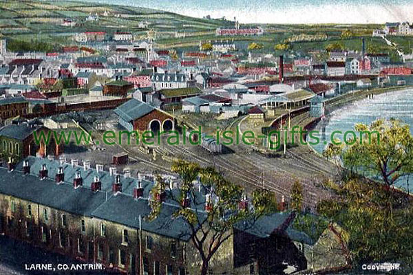 Antrim - Larne - Aerial View of town