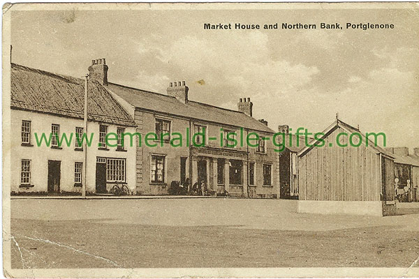 Antrim - Portglenone - Market House and Northern Bnk
