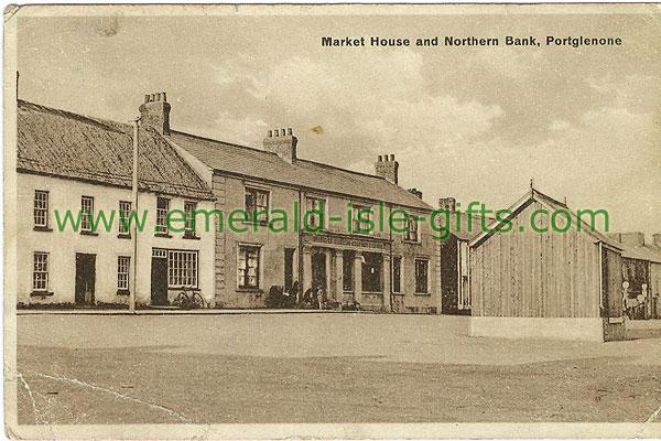 Antrim - Portglenone - Market House and Northern Bnk