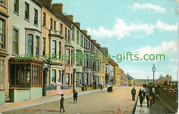 Antrim - Portrush - colour Main St