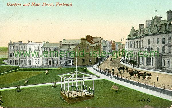 Antrim - Portrush - Gardens & Main Stree