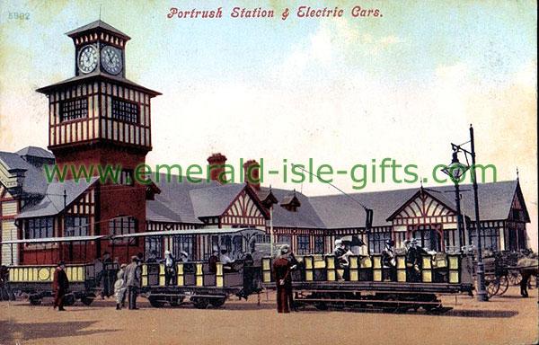 Antrim - Portrush - Station & Electric cars