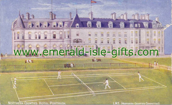 Antrim - Portrush - Tennis Courts - old photo