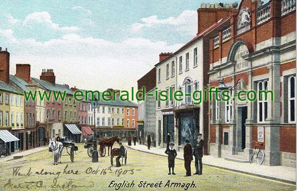 Armagh Town - English St - old photo