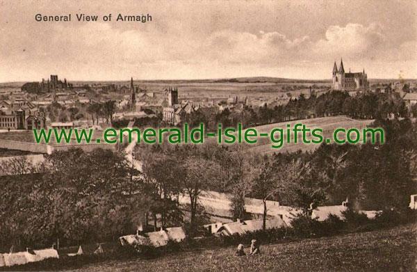 Armagh Town - old b/w Irish photo