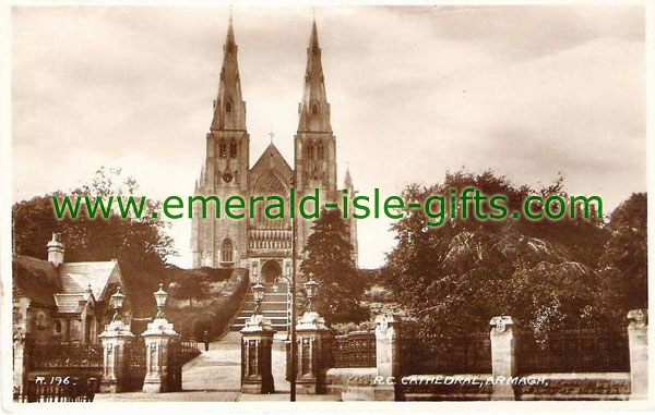 Armagh Town - Cathedral old b/w photo