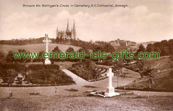 Armagh Town - Cemetary - b/w photo