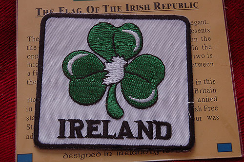 Irish Shamrock Map Embroidered Badge Patch