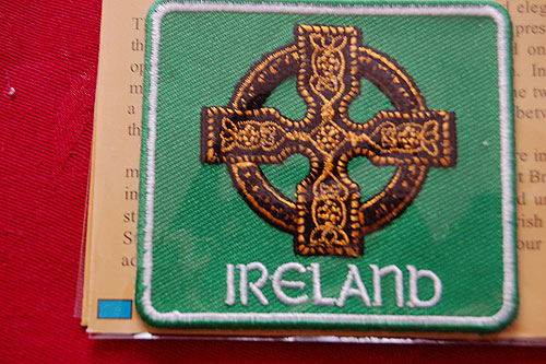 Irish Celtic Cross Embroidered Badge Patch