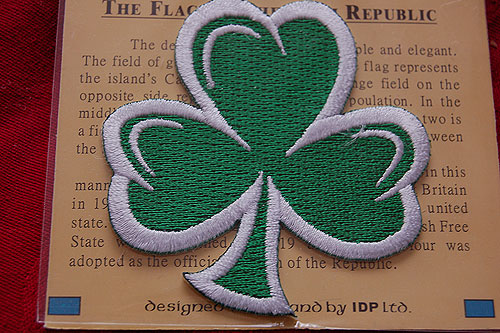 Irish Shamrock Embroidered Badge Patch