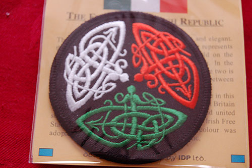Irish Celtic Knot Embroidered Badge Patch