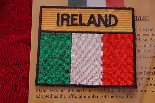 Ireland Tricolor Embroidered Badge Patch