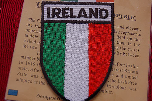 Irish Tricolor Embroidered Badge Patch