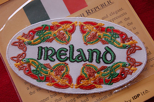 Irish Celtic Embroidered Badge Patch