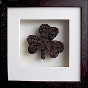 Irish Shamrock made from Turf
