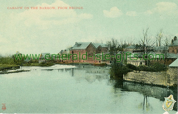 Carlow - Carlow Town - Town from Bridge on River Barrow