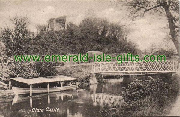 Clare - Castle - old b/w photo
