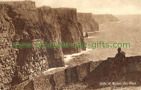 Clare - Cliffs of Moher - Cliffs - b/w