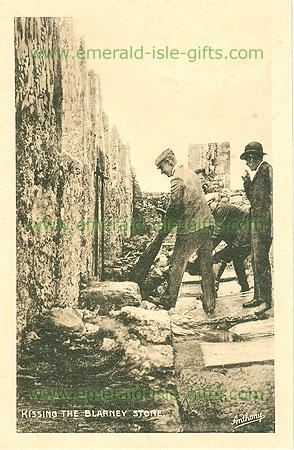 Vintage irish handkerchief blarney stone