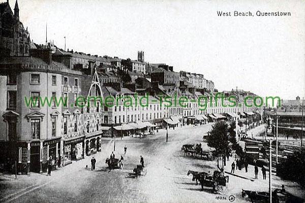 Cork - b/w West Beach old Irish photo