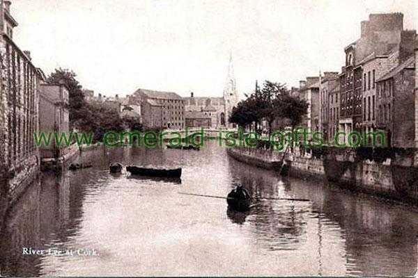 Cork City - River Lee - old Irish photo