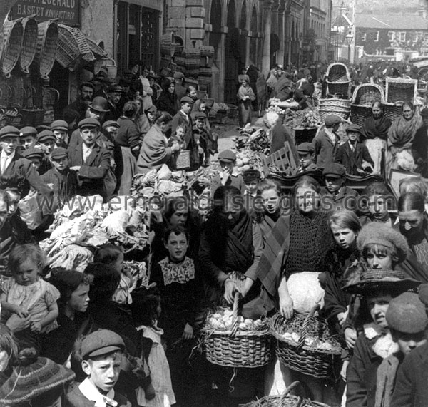 Cork City - A busy day at the Market, 1902