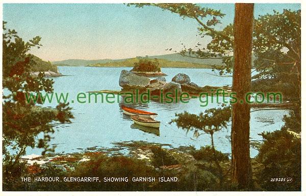 Cork - Glengarriff - The Harbour Glengarriff, showing Garnish Island