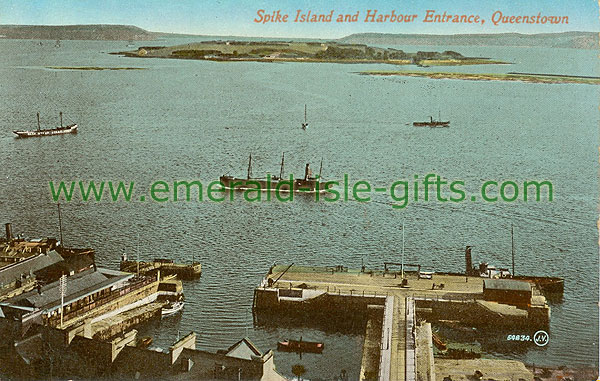 Cork - Spike Island - Spike Island and Harbour Entrance, Queenstown